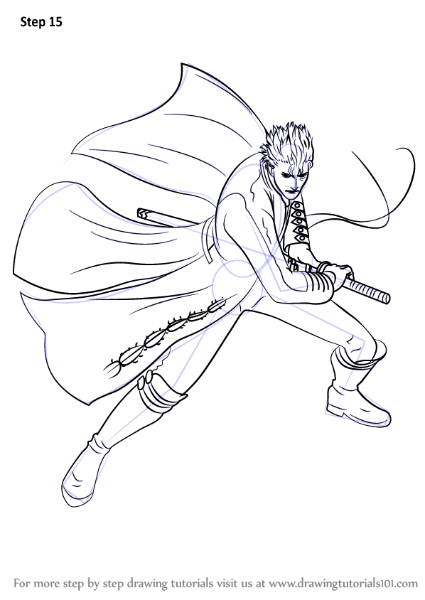 Learn How To Draw Vergil From Devil May Cry Devil May Cry