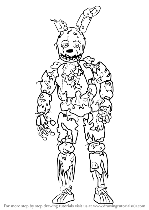 Fnaf Spring Bonnie Coloring Pages