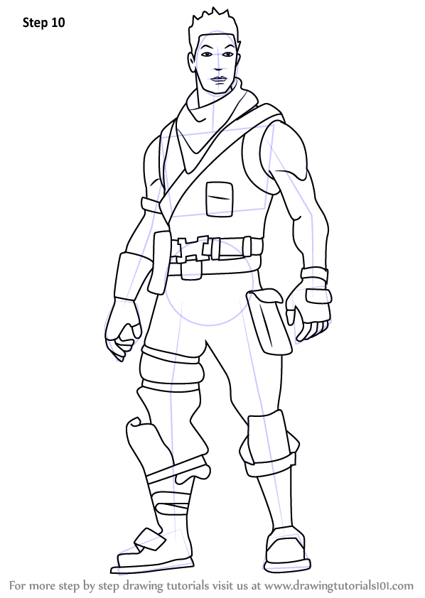 Learn How To Draw Berserker Renegade From Fortnite Fortnite Step By Step Drawing Tutorials