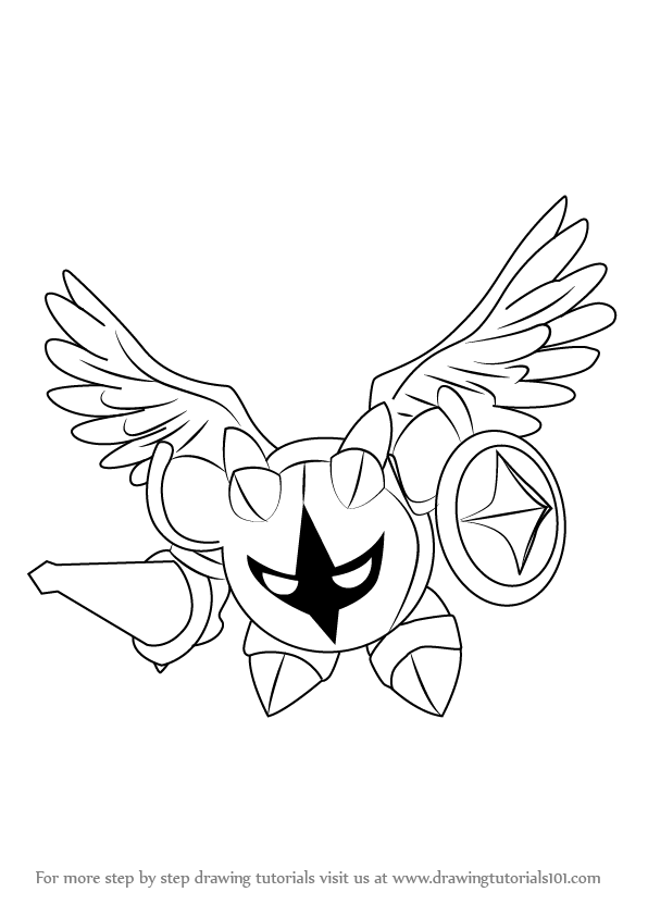 Step By Step How To Draw Galacta Knight From Kirby