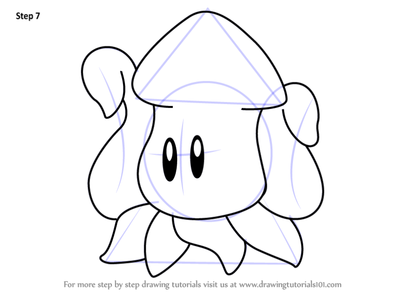 stepstep how to draw squishy from kirby