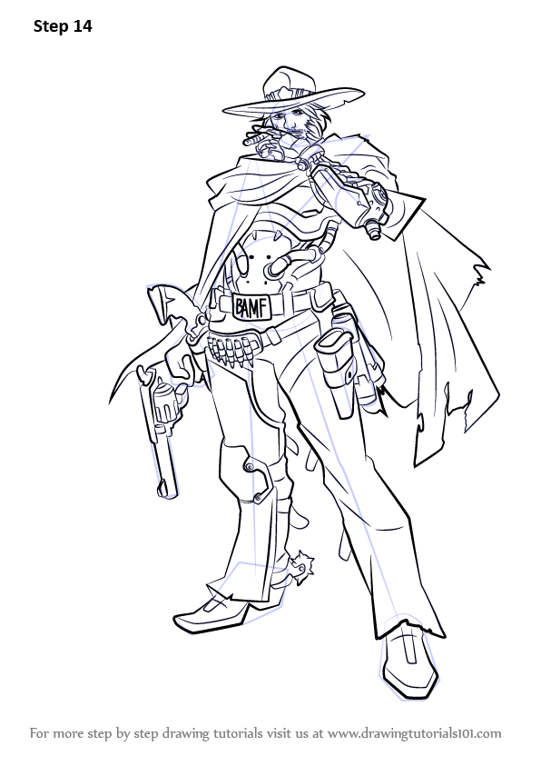 Learn How To Draw McCree From Overwatch Overwatch Step