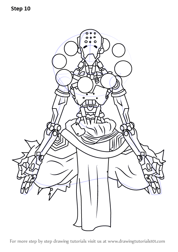 Learn How To Draw Zenyatta From Overwatch Overwatch Step By Step Drawing Tutorials