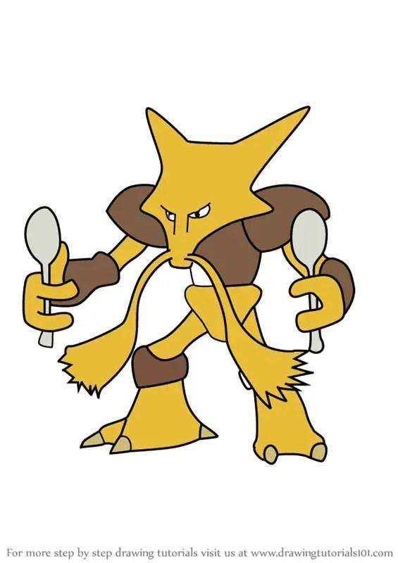 Learn How To Draw Alakazam From Pokemon GO Pokemon GO