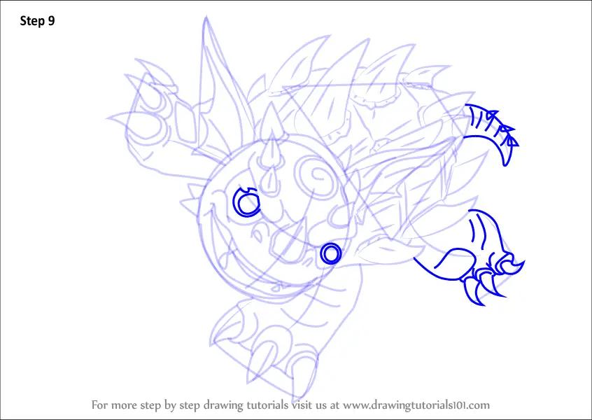 Learn How To Draw Warnado From Skylanders Skylanders