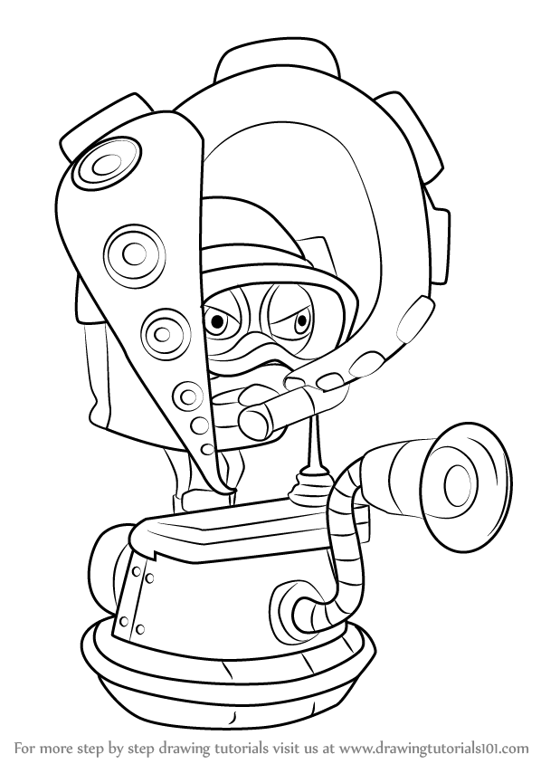 learn how to draw octodiver from splatoon (splatoon) step
