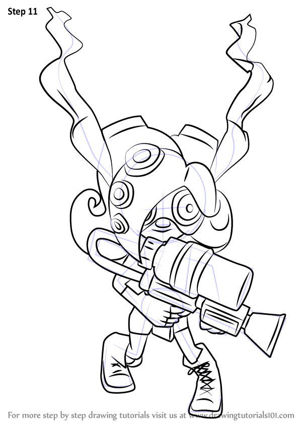 Learn How To Draw Octoling From Splatoon Splatoon Step