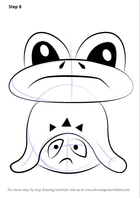 Learn How To Draw Froggit From Undertale Undertale Step