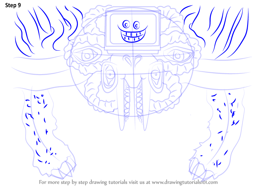 Learn How To Draw Photoshop Flowey From Undertale