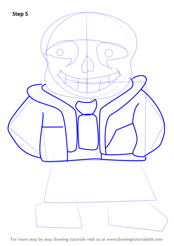 Step by Step How to Draw Sans from Undertale ...
