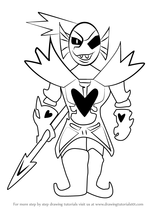 Papyrus Undertale Easy Draw