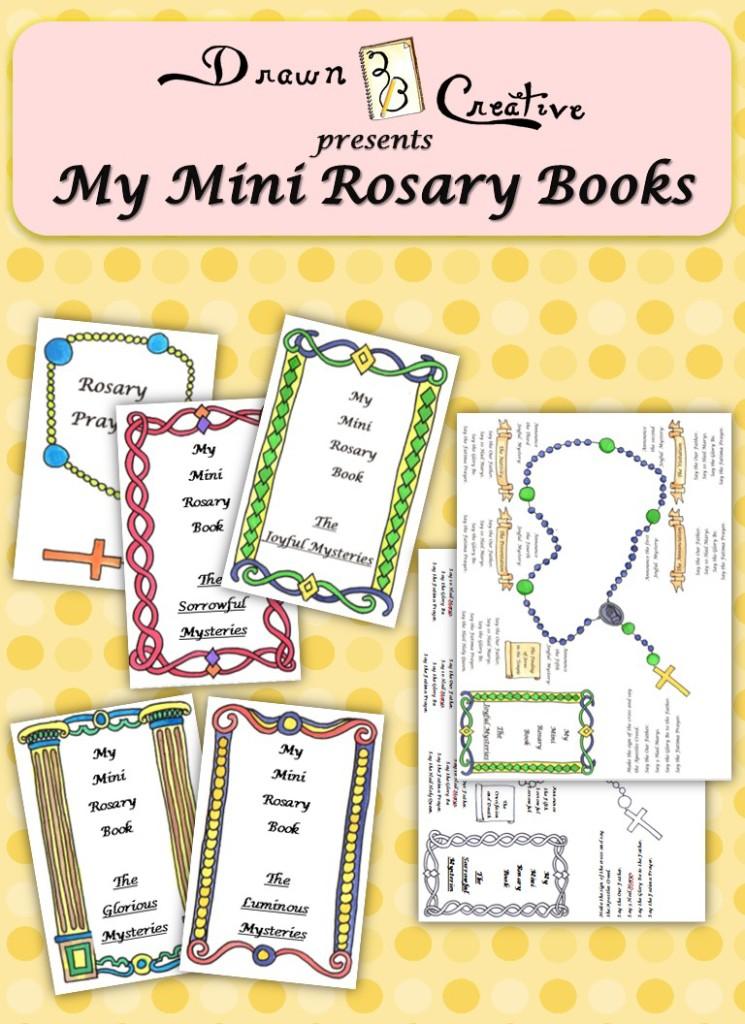 My Mini Rosary Books Drawn2BCreative