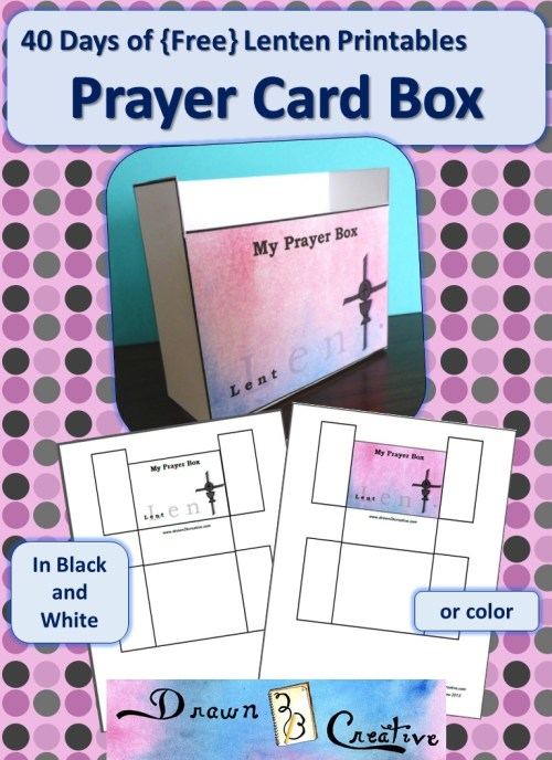 40 Days Of Free Lenten Printables Prayer Card Box
