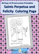Saints Perpetua and Felicity Coloring page