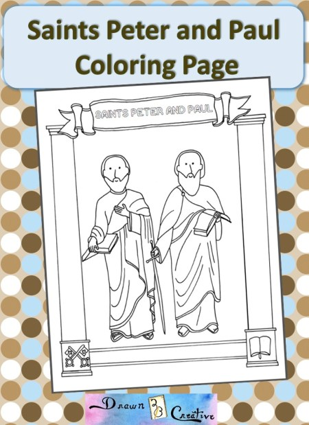 children coloring pages peter paul - photo#17
