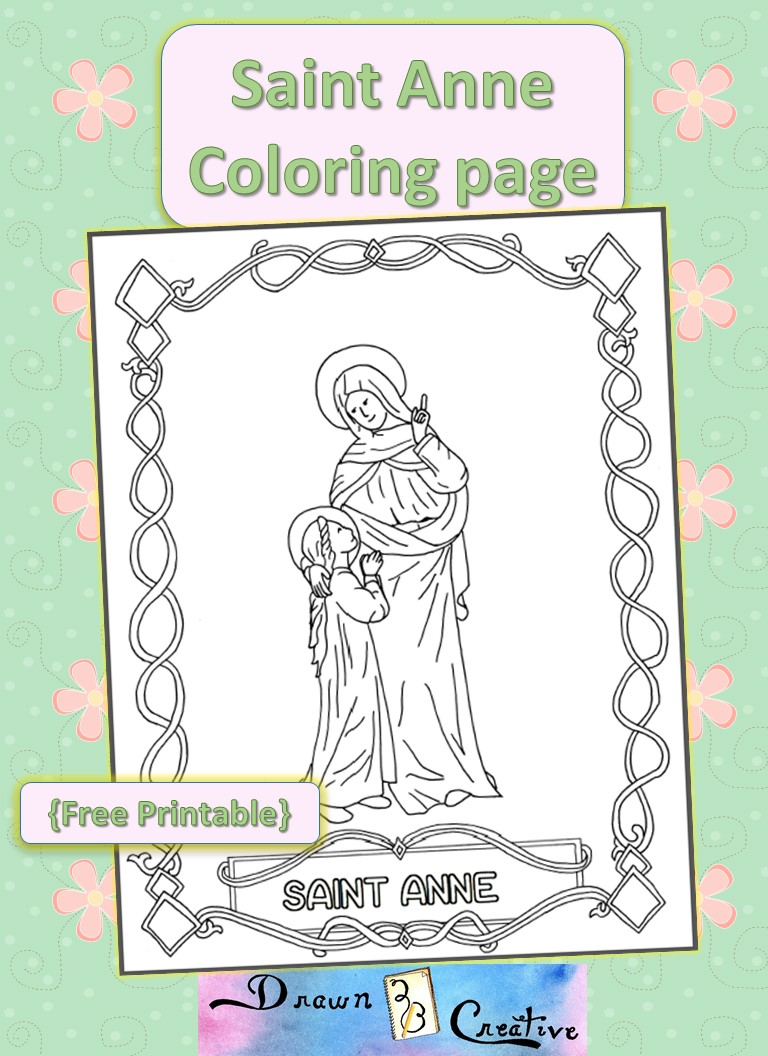 Drawn2bcreative page 4 of 14 for St kateri coloring page