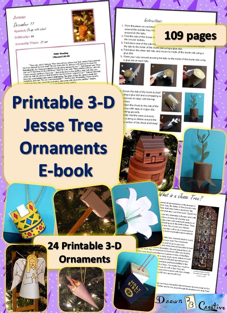graphic regarding Jesse Tree Symbols Printable identify 3-D Printable Jesse Tree Ornaments e-guide