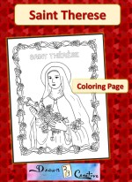 Saint Therese coloring page badge