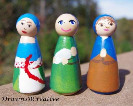lovely lady peg dolls