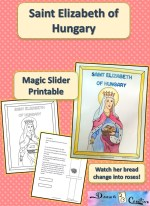 Saint Elizabeth of Hungary Printable Coloring Page