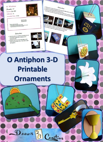 O Antiphons 3-D Printable Ornaments