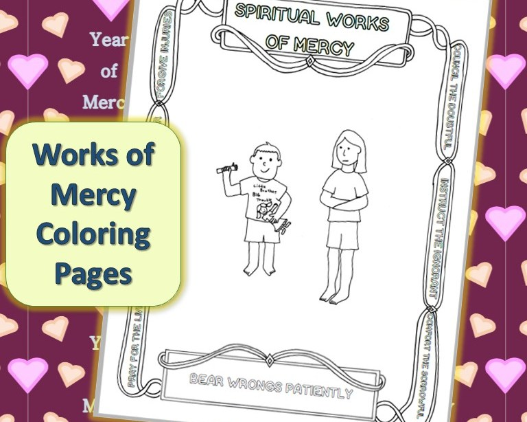 Spiritual Works Of Mercy Coloring Pages Bear Wrongs
