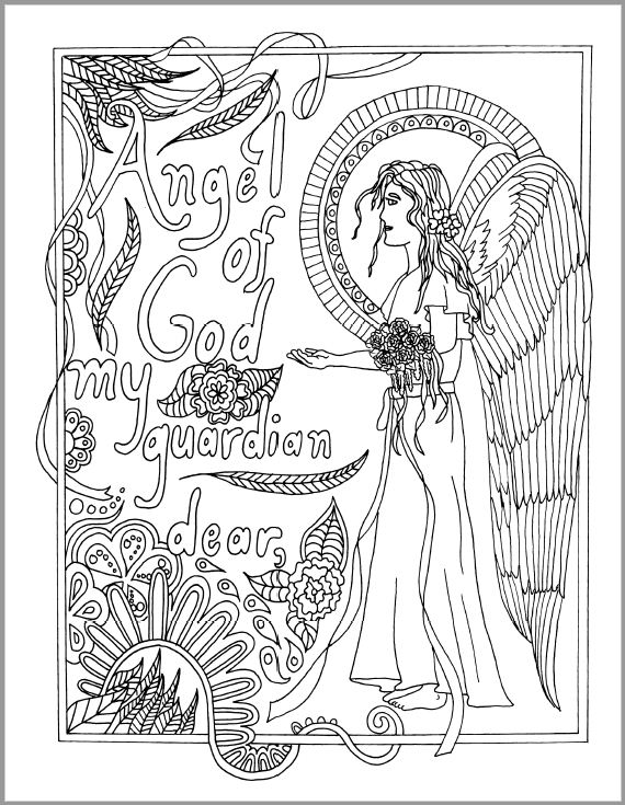 - Mommy And Me Catholic Coloring Pages - Drawn2BCreative