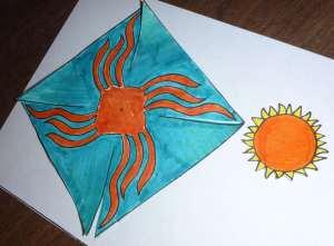 cut out Spinning Sun Pinwheel