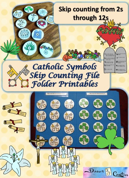 Catholic Symbols skip counting printables