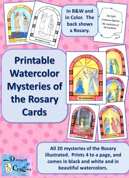 Printable Mysteries of the Rosary Cards