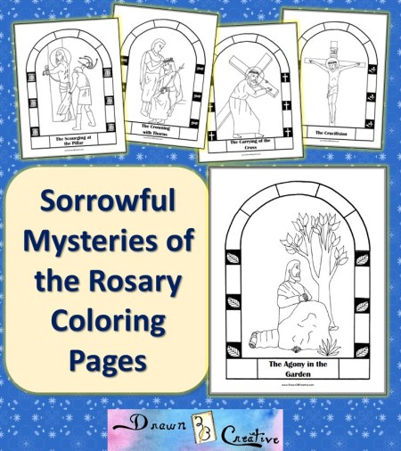 The second sorrowful mystery of the rosary the scourging for Joyful mysteries coloring pages