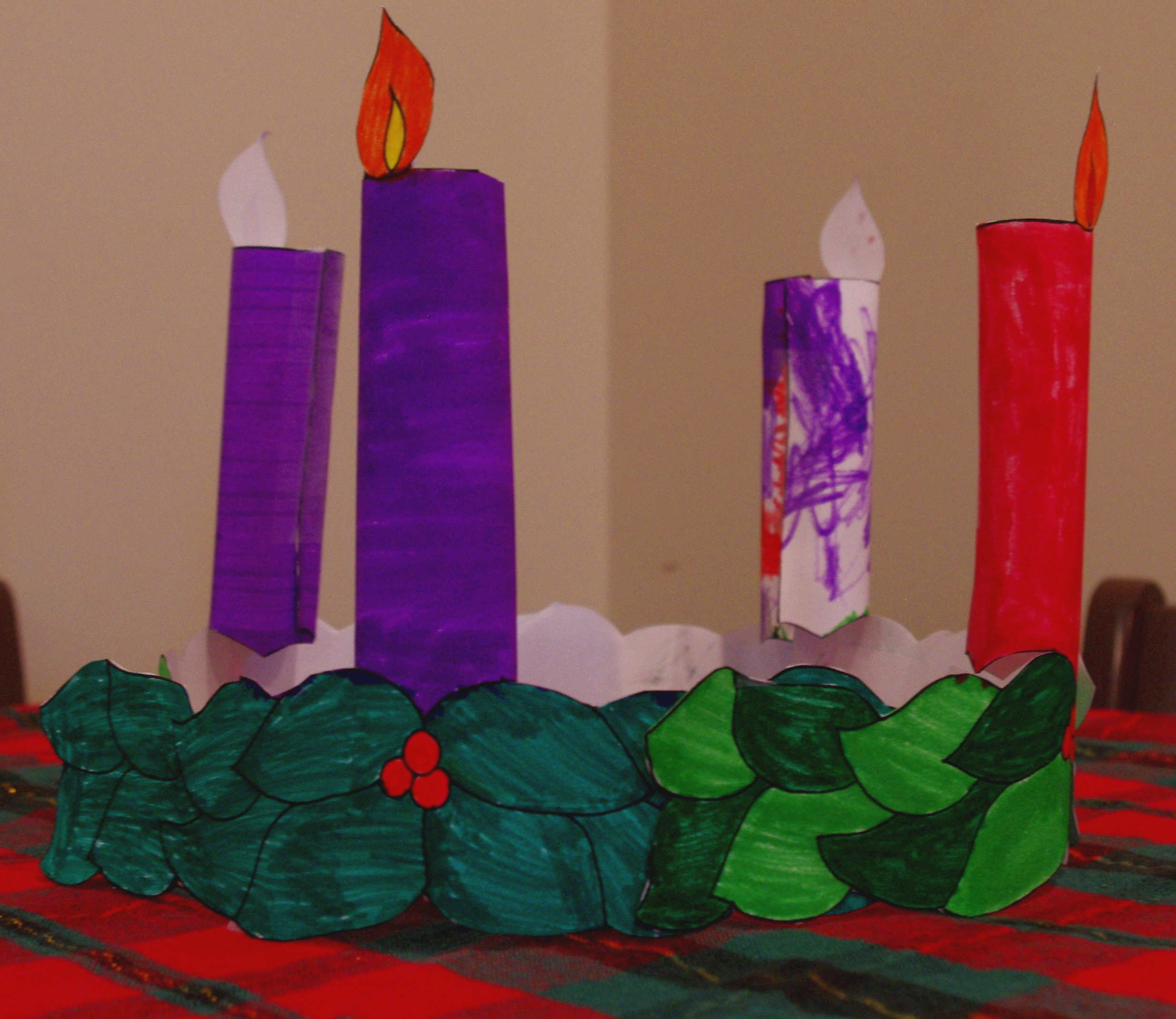 3 d printable advent wreath drawn2bcreative. Black Bedroom Furniture Sets. Home Design Ideas
