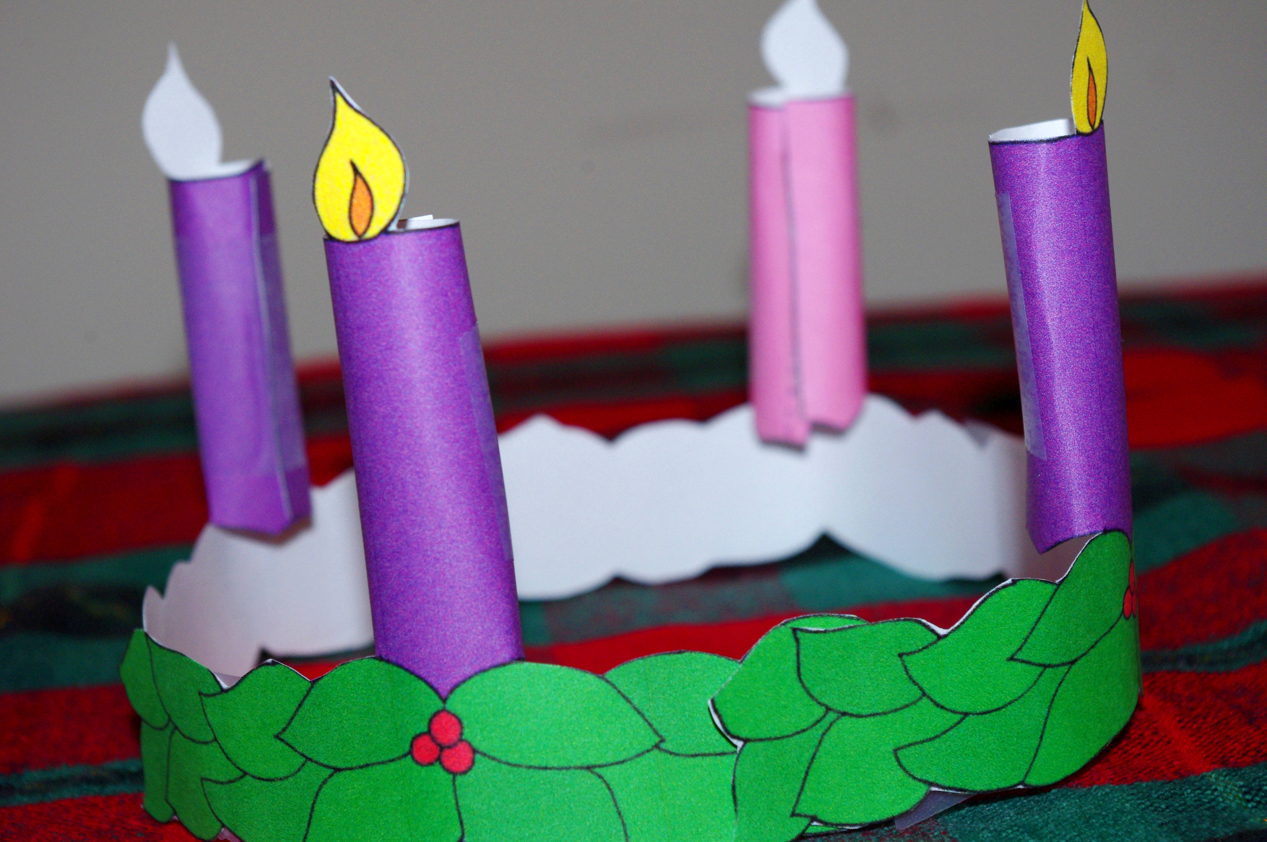 This is a picture of Dynamic Advent Wreath Printable