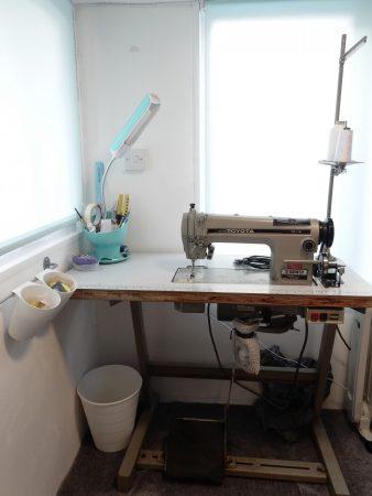 Drawn by Rhiannon industrial sewing machine