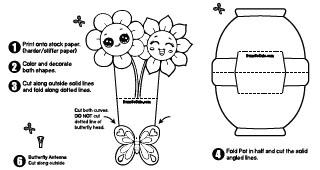 Diy Mini Paper Flowerpot Draw So Cute