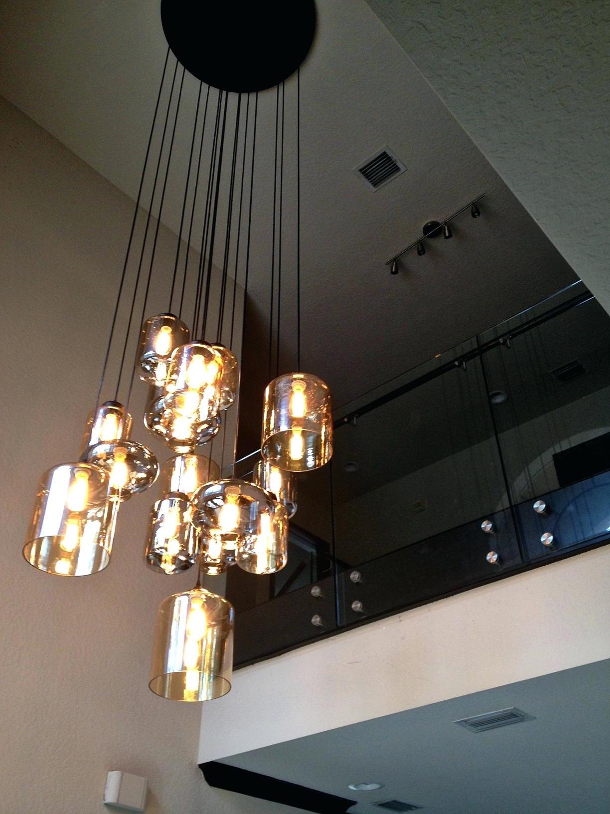 stairwell chandelier lighting