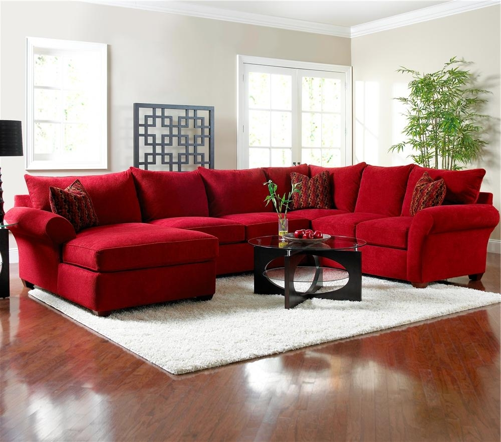 view gallery of red leather sectionals