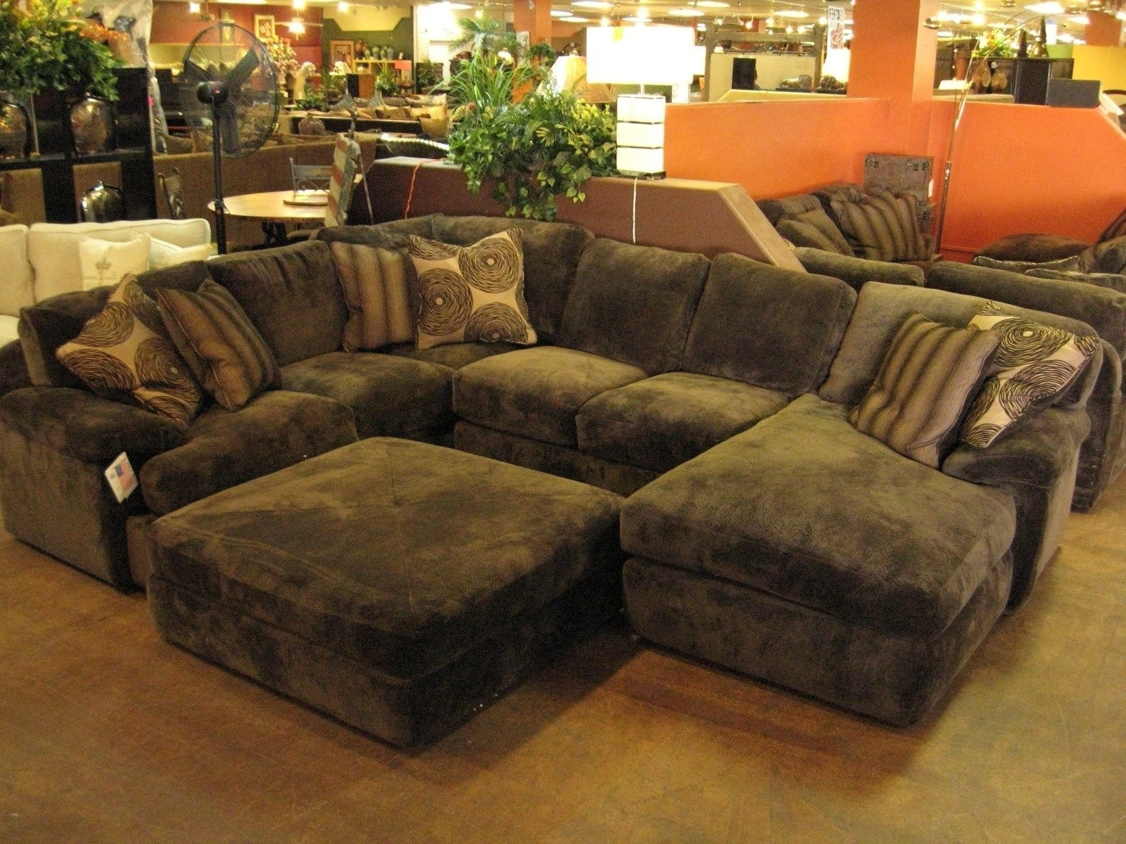 sectional sofas with oversized ottoman