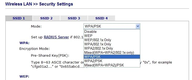 What 80211n Security Type Tkip Mode