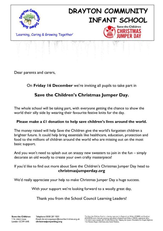 thumbnail of Save the Children christmas jumper letter