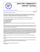 Parent welcome Spring letter Year 2