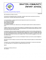 Parent welcome Spring letter year 1
