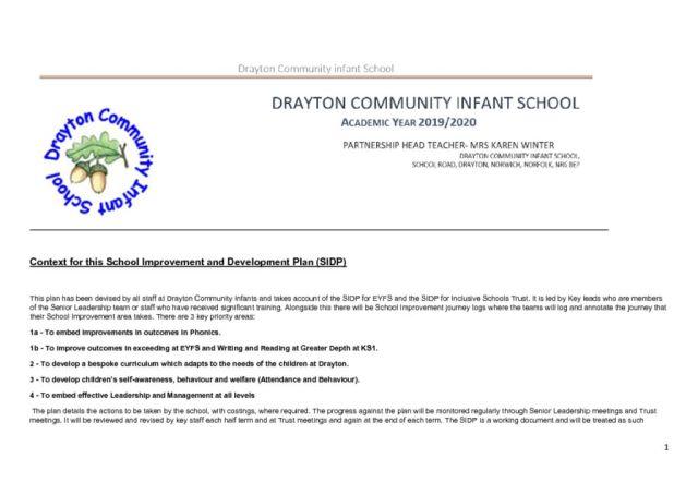 thumbnail of SIP Drayton – Emotional and Social Development – 2019 2020