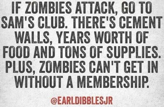 Zombies attack Sams Club