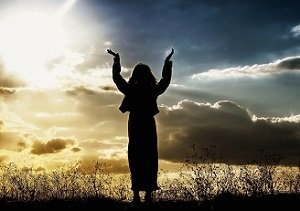 Woman Praising God