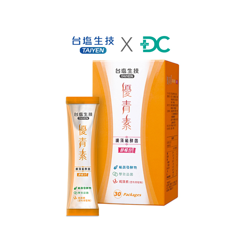 """<a href=""""https://www.drcomeantiaging.com/products/taiyen-02/"""">纖藻植酵菌順暢包</a>"""