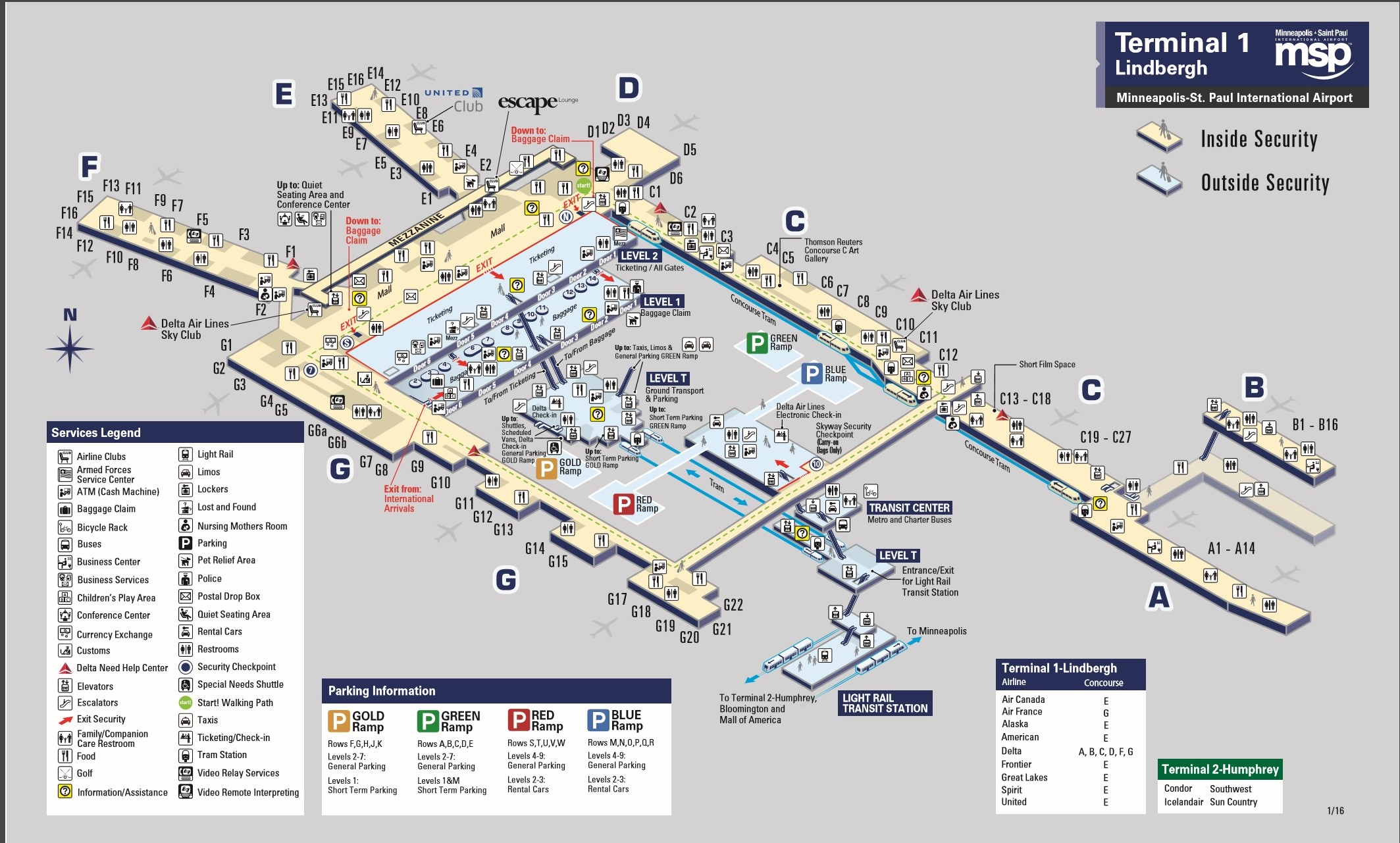 msp airport map. delta domestic first class – minneapolis to sacramento – sevenr