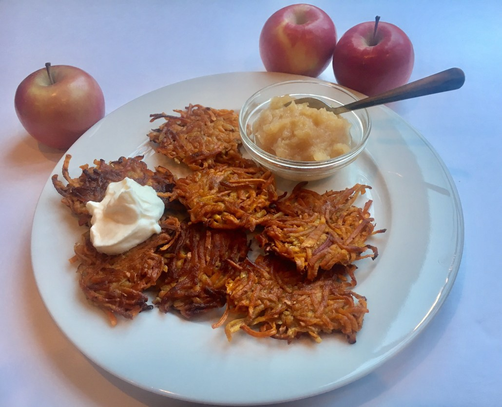 Sweet Potato Latkes with Extra Thick Applesauce