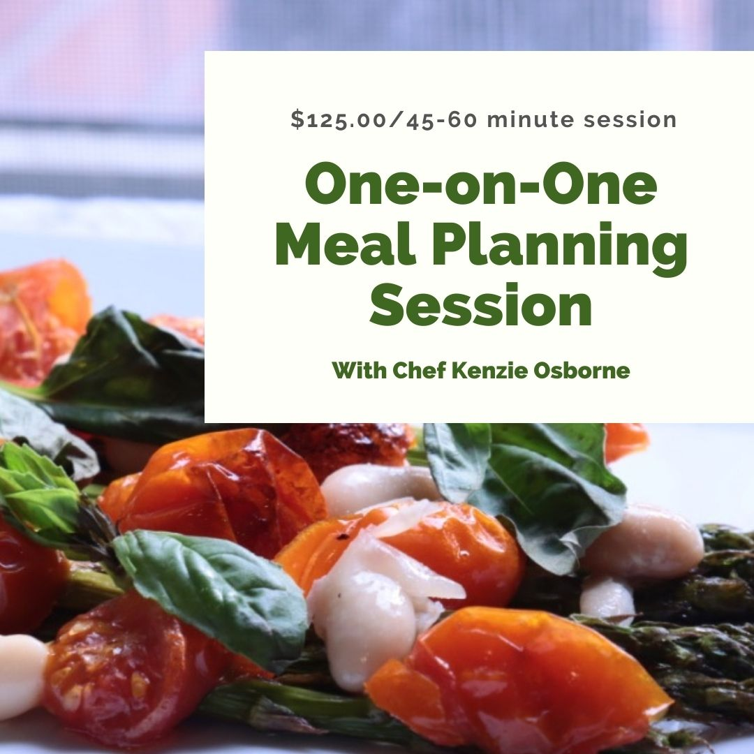 One on one meal planning session