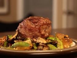 Steak with Dried Mango